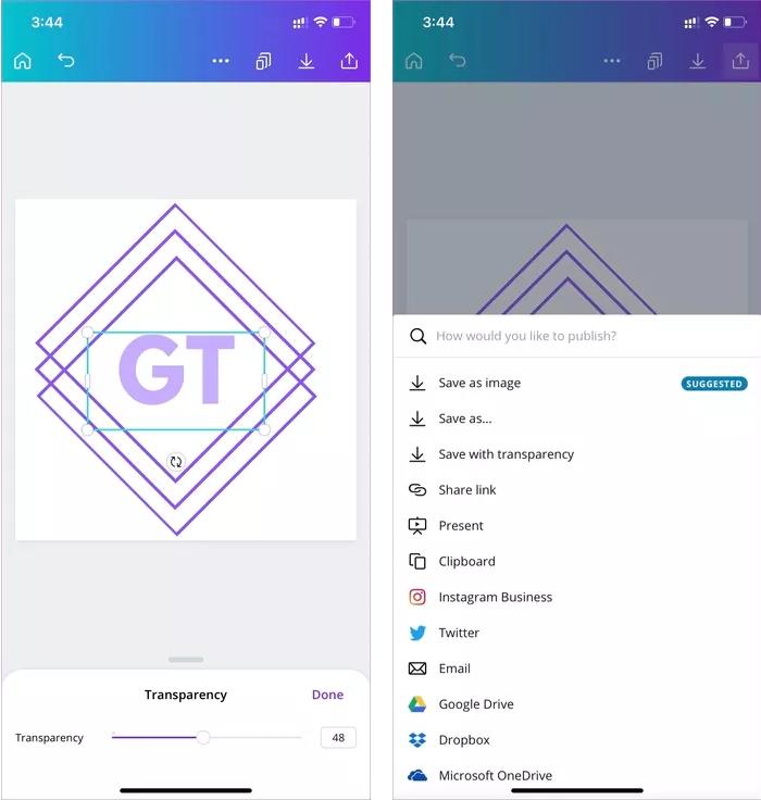 ساخت لوگو با برنامه موبایل