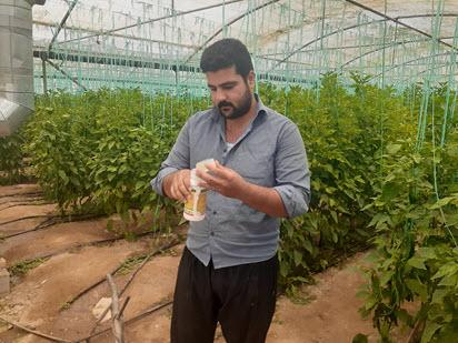 گلخانه آقای یوسفی بازدید دکتر محمد بشیری