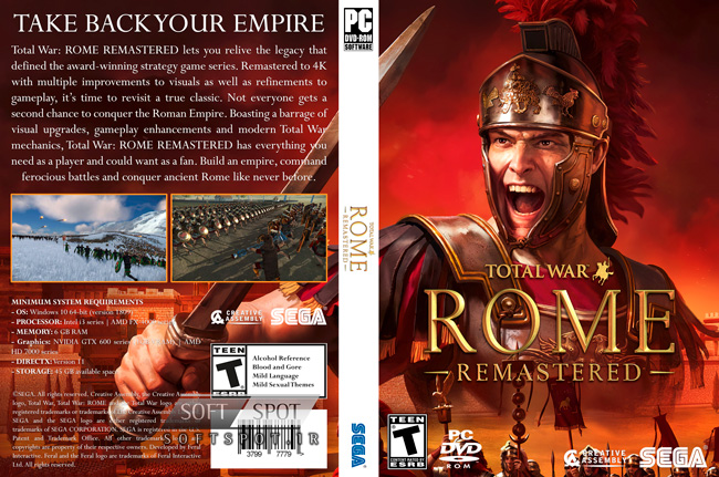 Total War ROME REMASTERED Cover