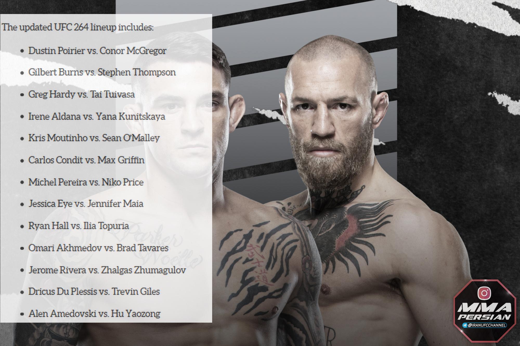 پیش نمایش  رویداد : UFC 264: Poirier vs. McGregor 3