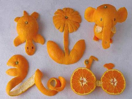 ایده های کاردستی با پوست میوه crafts fruit skin
