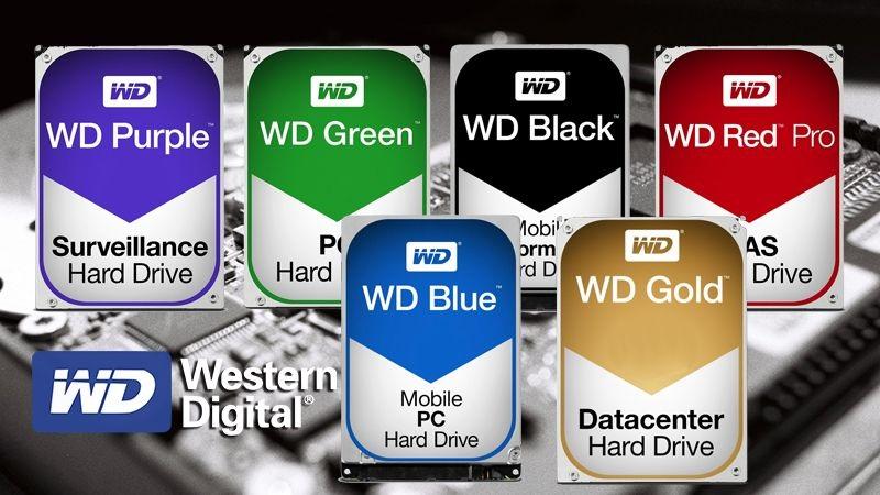 تفاوت هارد های وسترن دیجیتال بر اساس رنگبندی