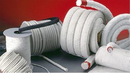 نخ و نوار نسوز در صنعت با فیبر استخوانی Refractory yarn and tape