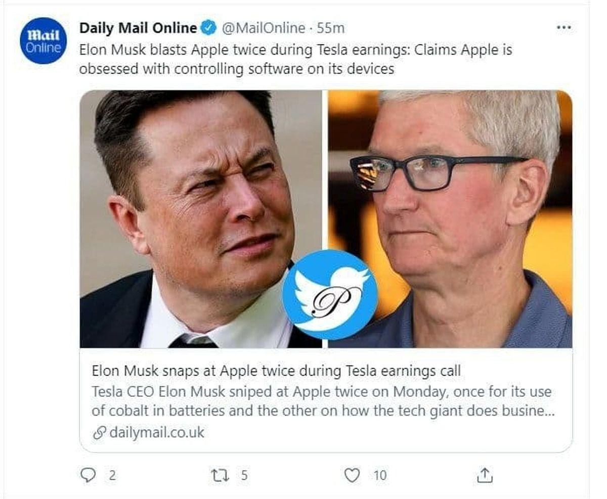 حمله تند ایلان ماسک به اپل Elon Musk attacks Apple