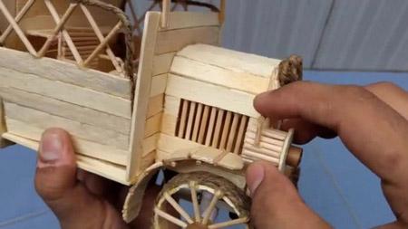 انواع کاردستی با چوب بستنی wood craft
