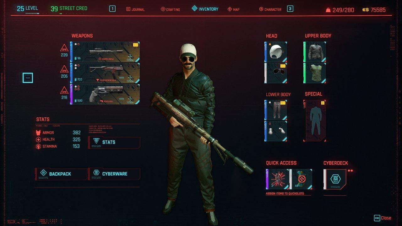 Cyberpunk 2077 Items and Skills