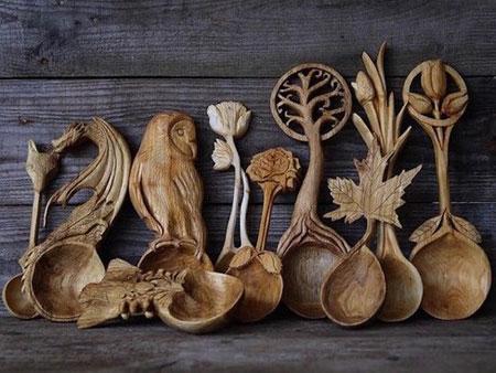 بهترین آثار کنده کاری روی چوب از استادان بزرگ