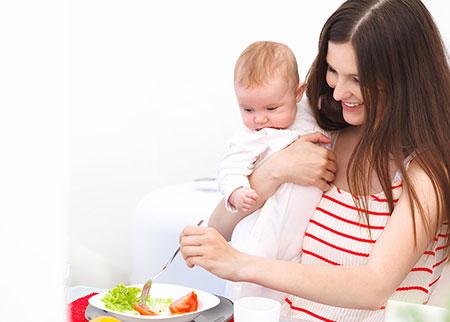 تغذیه مناسب دوران شیردهی Breastfeeding nutrition
